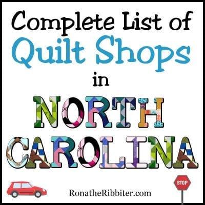 NC quilt shops
