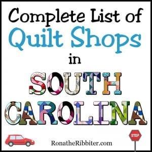 SC quilt shops