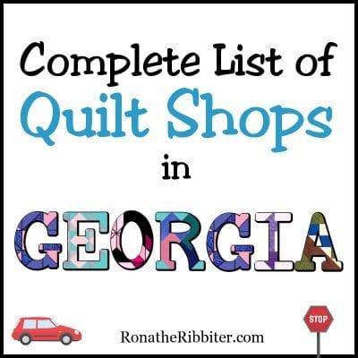 GA quilt shops
