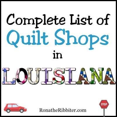 LA quilt shops