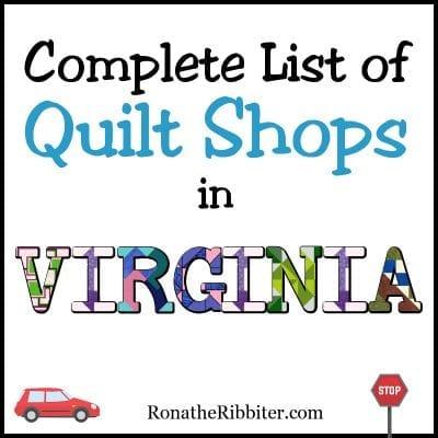 VA Quilt Shops