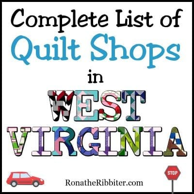 WV quilt shops
