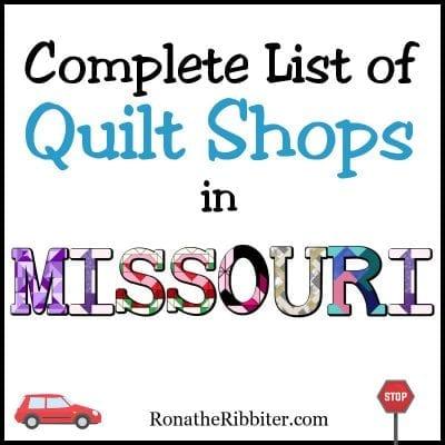 MO Quilt shops