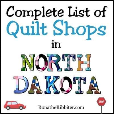 ND Quilt shops