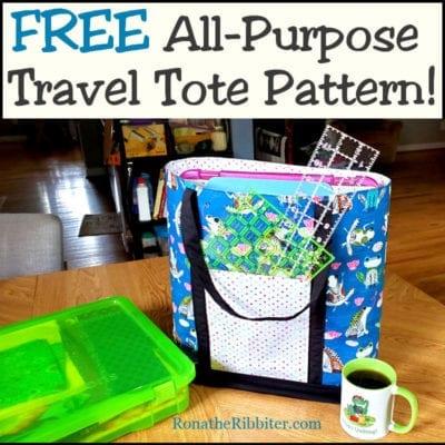 Free Travel Tote bag pattern