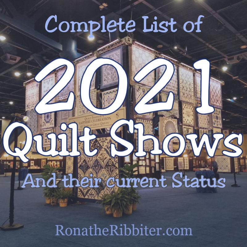2021 quilt shows
