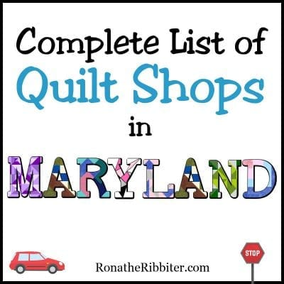 quilt shops in MD