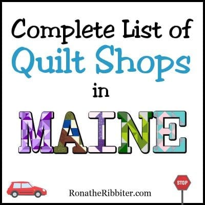 quilt shops in ME