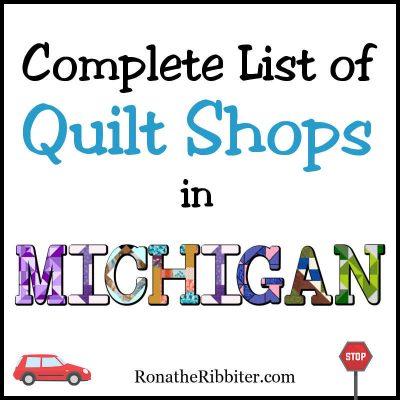 Quilt shops in MI